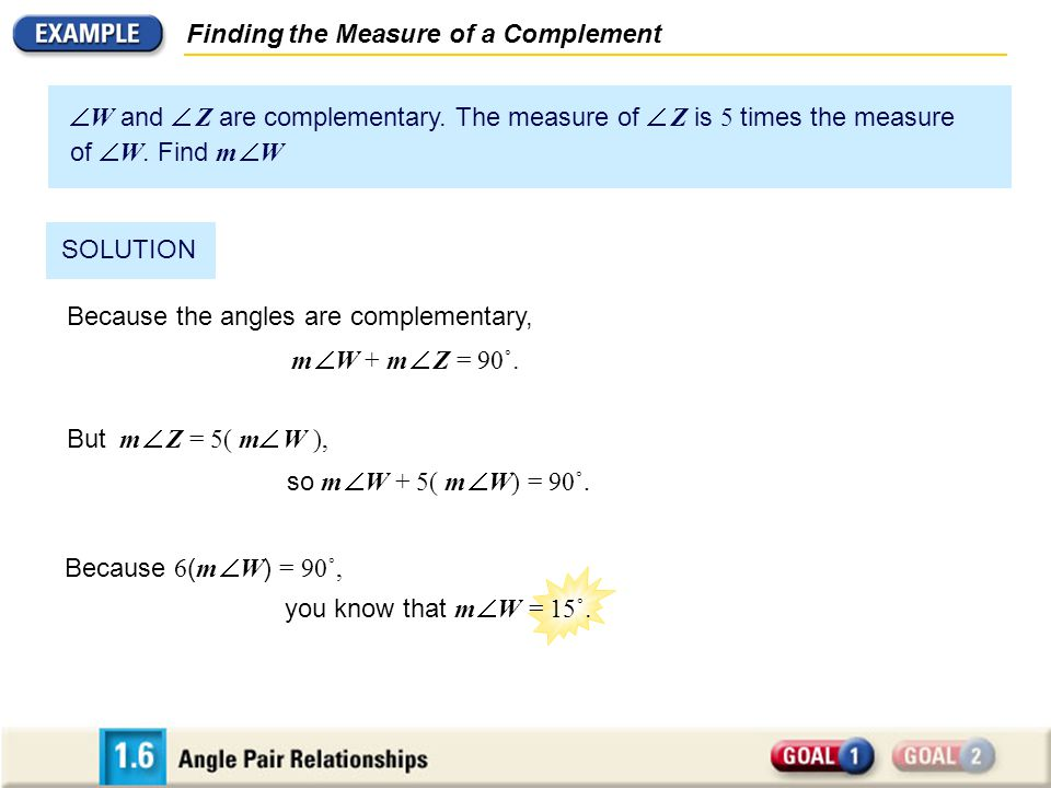 Finding the Measure of a Complement