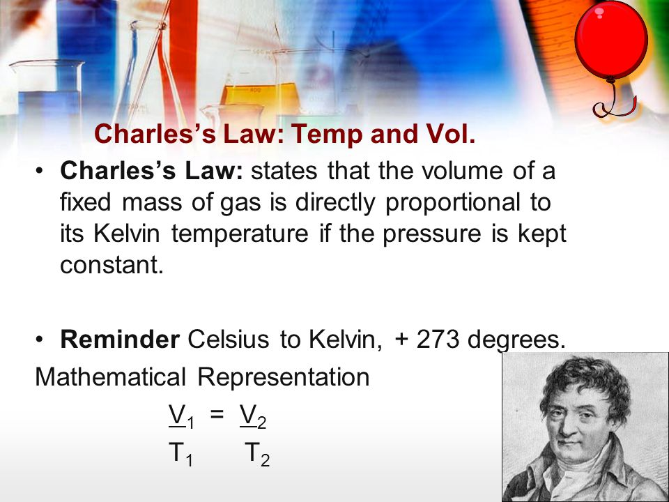 Charles's Law: Temp and Vol.