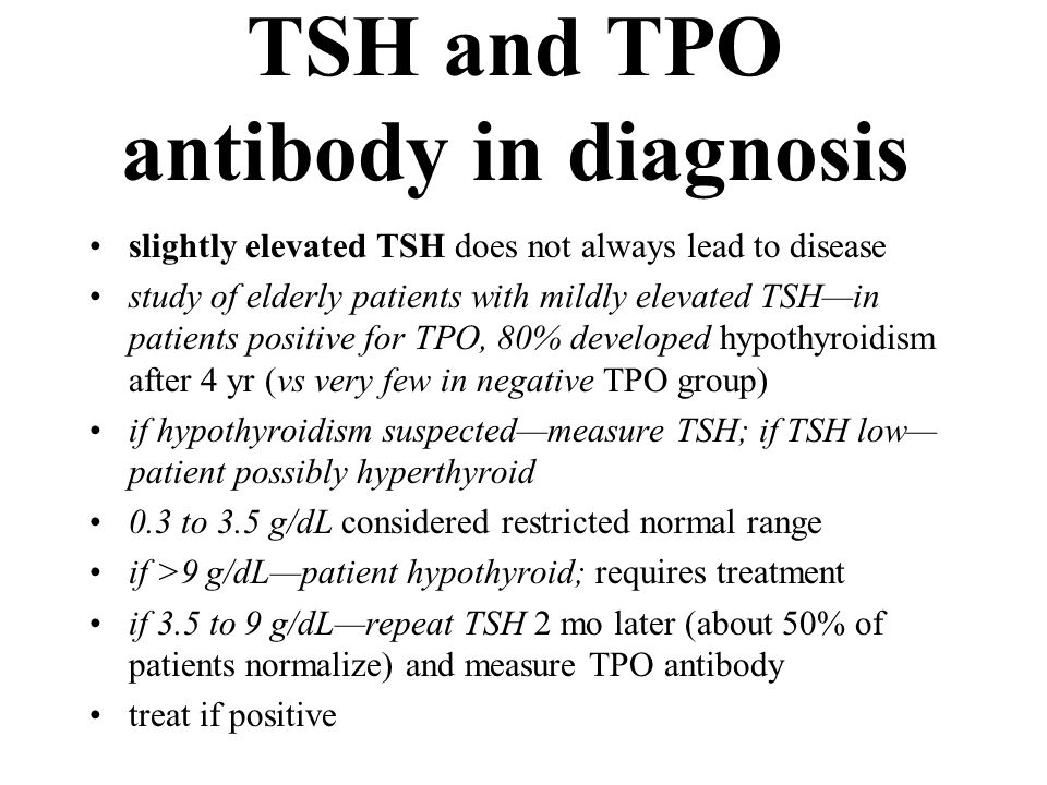 TSH and TPO antibody in diagnosis