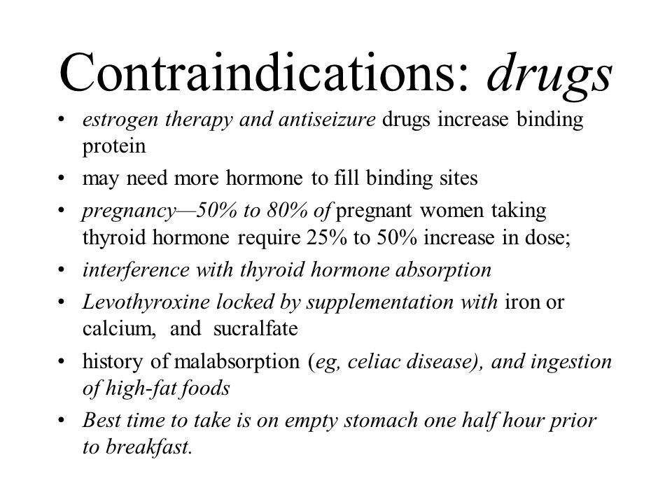 Contraindications: drugs