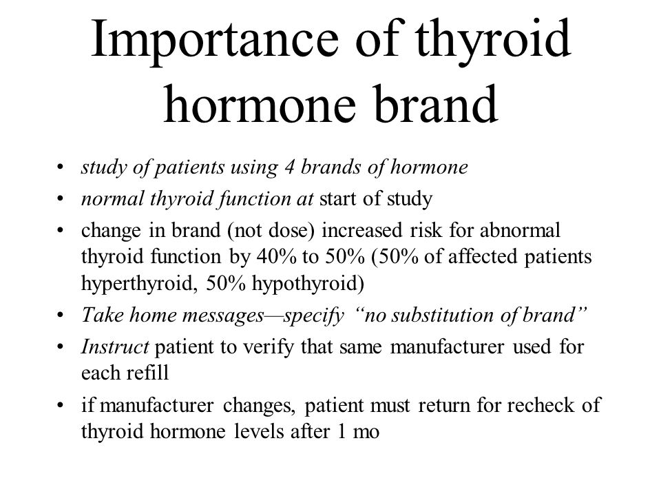 Importance of thyroid hormone brand