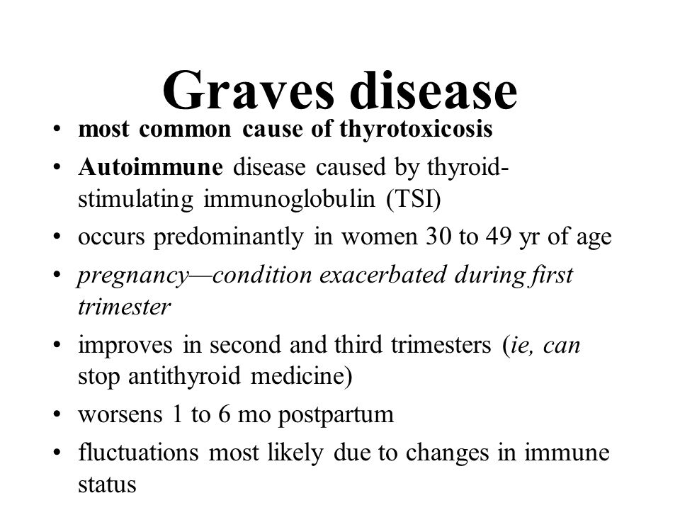 Graves disease most common cause of thyrotoxicosis