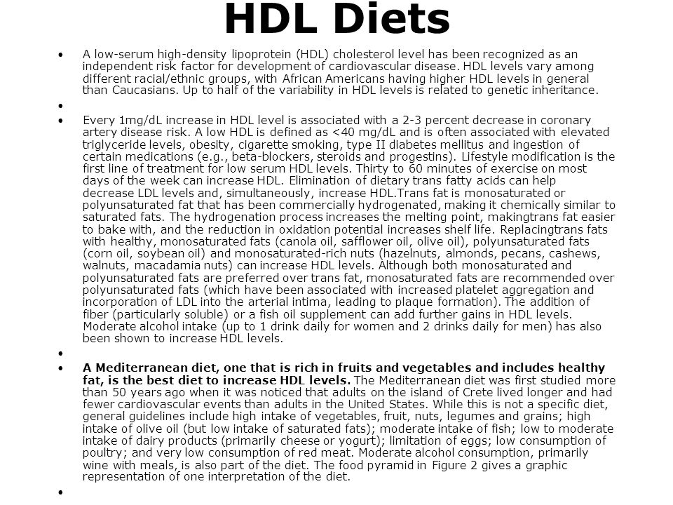 HDL Diets