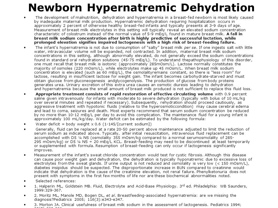 Newborn Hypernatremic Dehydration