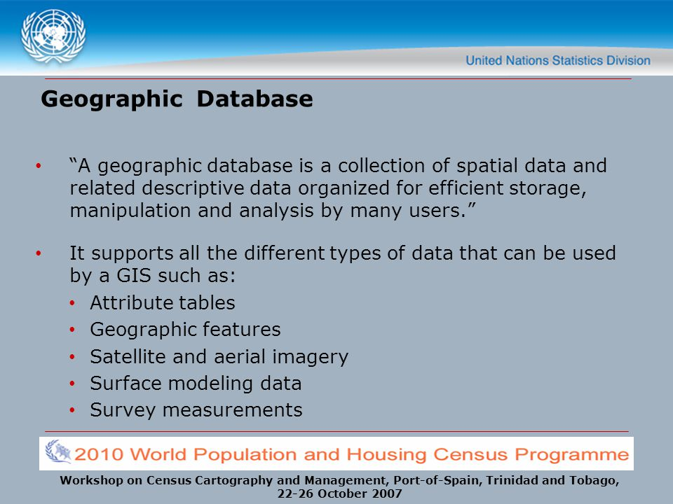 Geographic Database