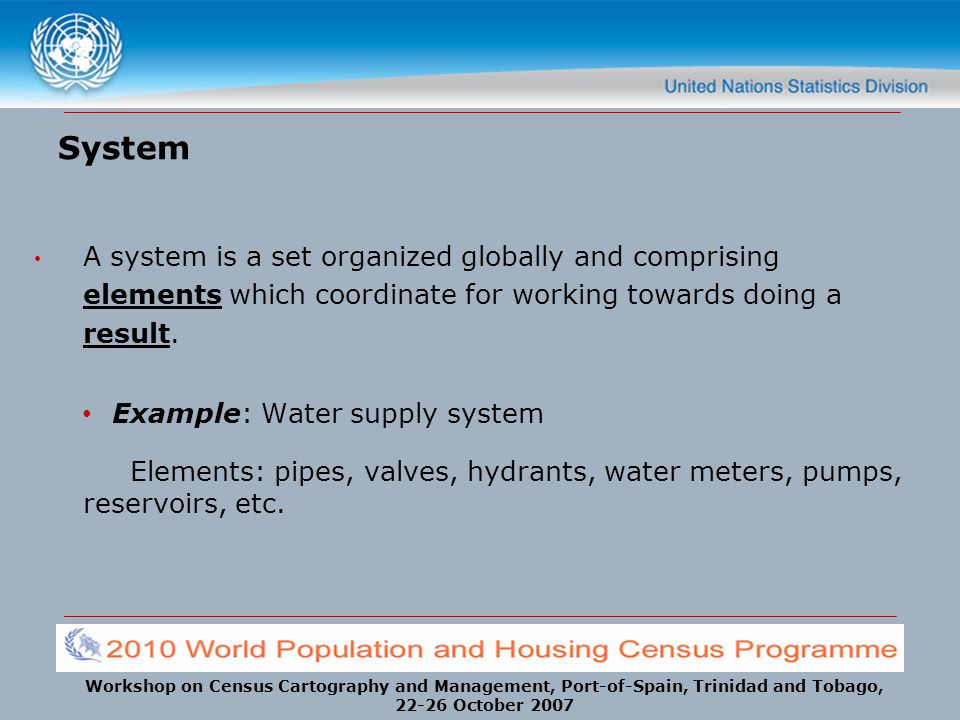 System A system is a set organized globally and comprising elements which coordinate for working towards doing a result.
