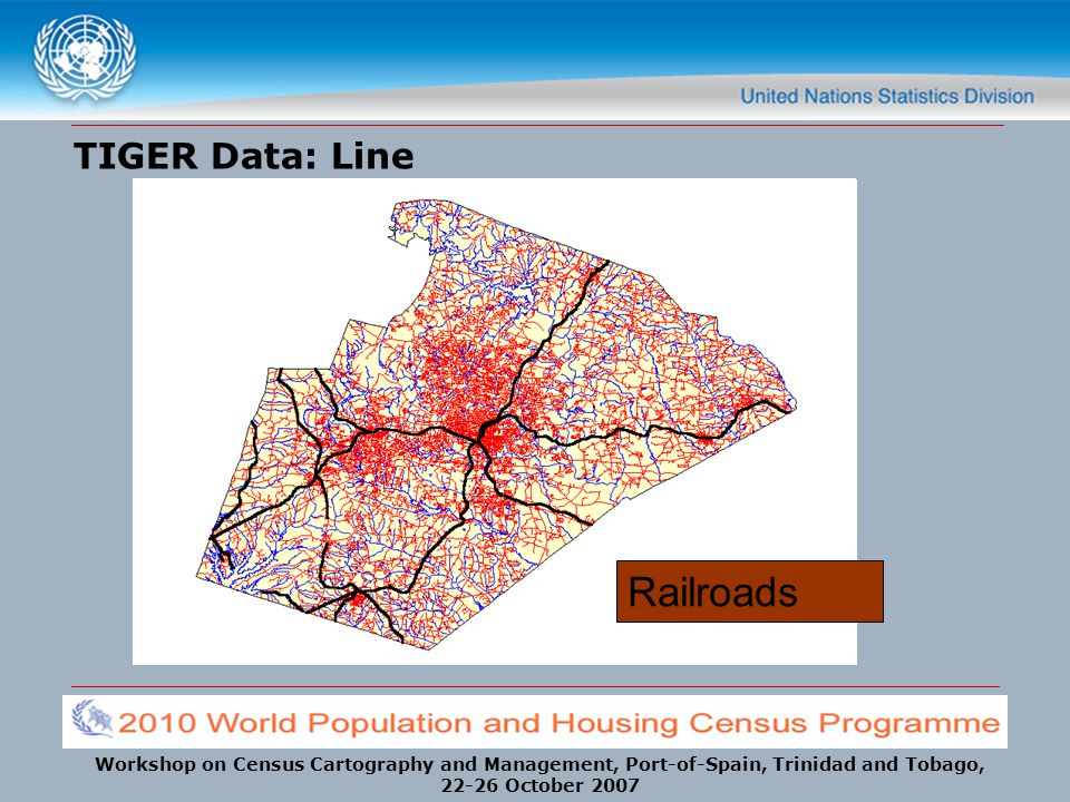 TIGER Data: Line Railroads Streams Streets