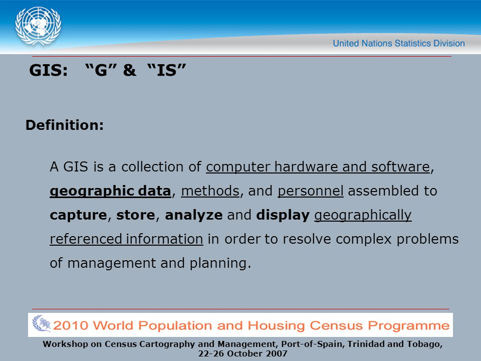 GIS: G & IS