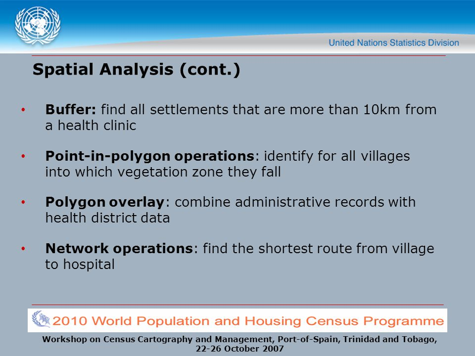 Spatial Analysis (cont.)