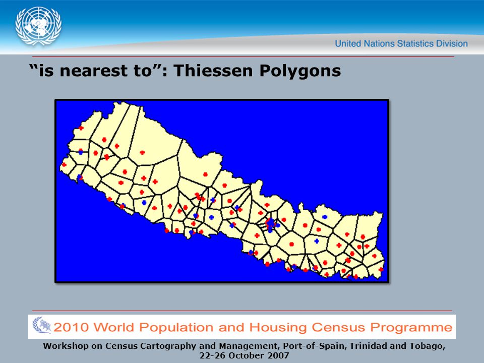is nearest to : Thiessen Polygons