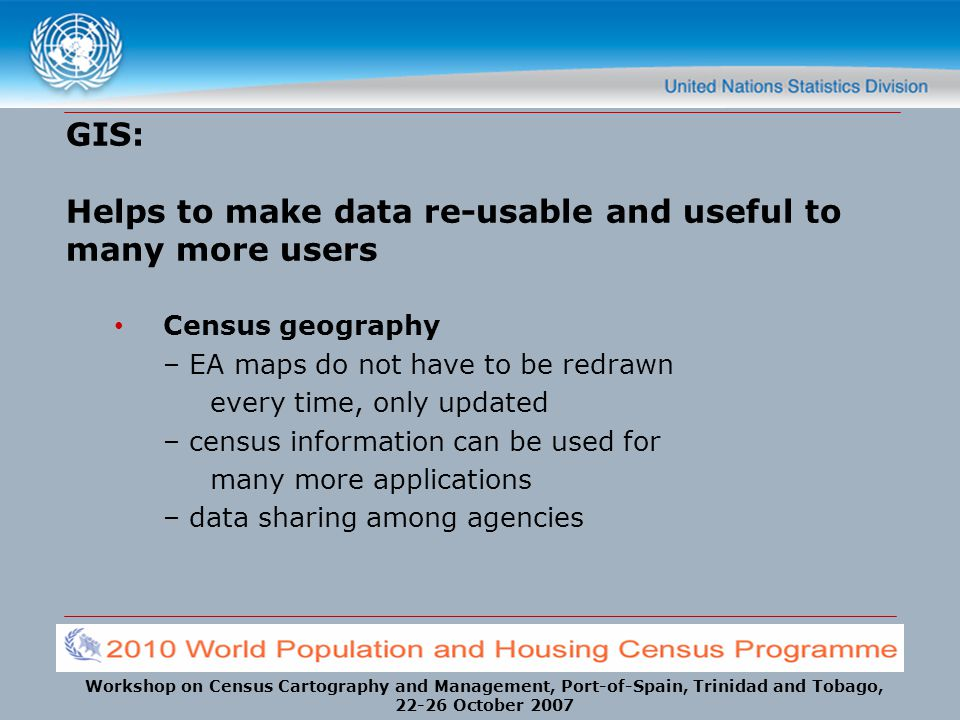 GIS: Helps to make data re-usable and useful to many more users