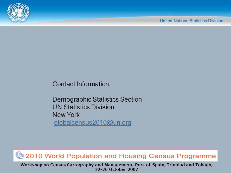 Contact Information: Demographic Statistics Section.