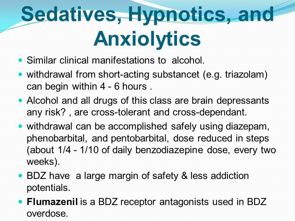 Sedatives, Hypnotics, and Anxiolytics