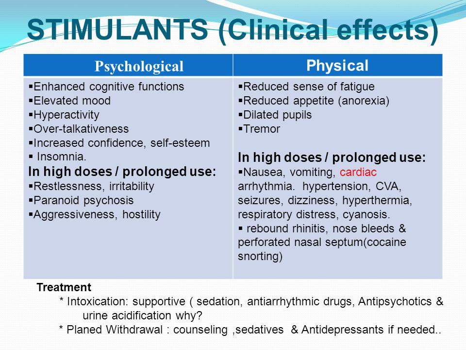 STIMULANTS (Clinical effects)