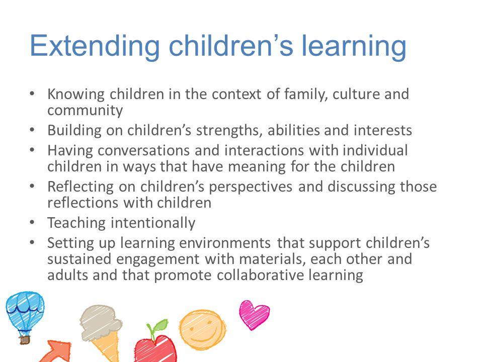 Extending children's learning