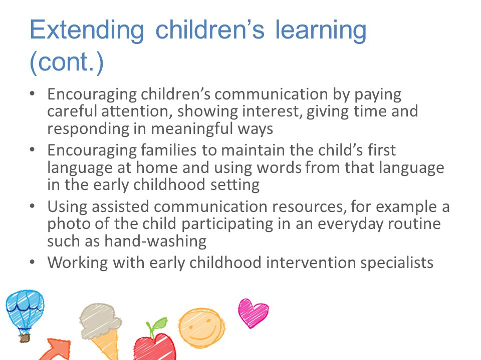 Extending children's learning (cont.)