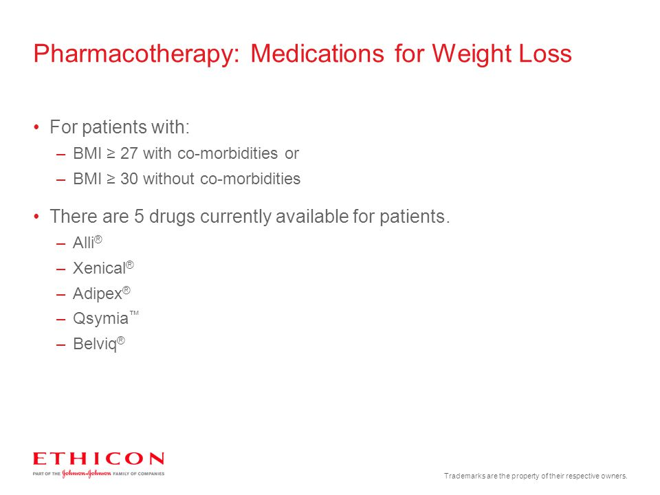 Pharmacotherapy: Medications for Weight Loss