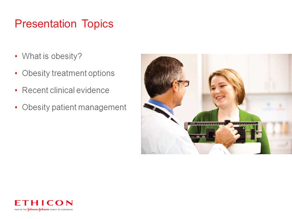 Presentation Topics What is obesity Obesity treatment options