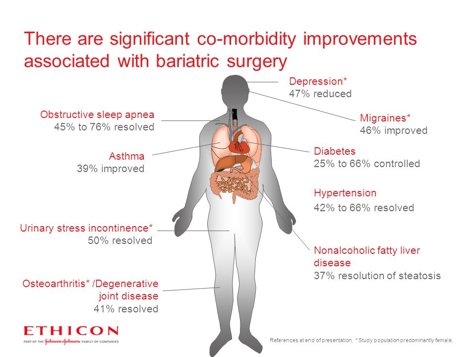 There are significant co-morbidity improvements associated with bariatric surgery