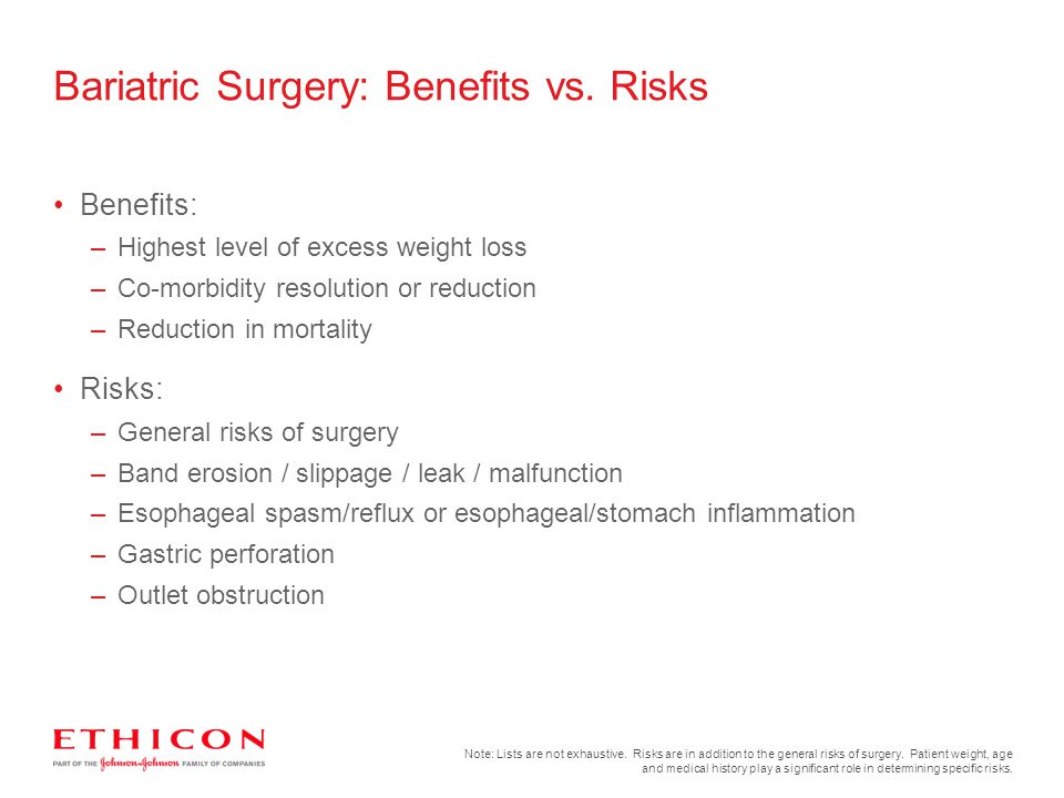 Bariatric Surgery: Benefits vs. Risks