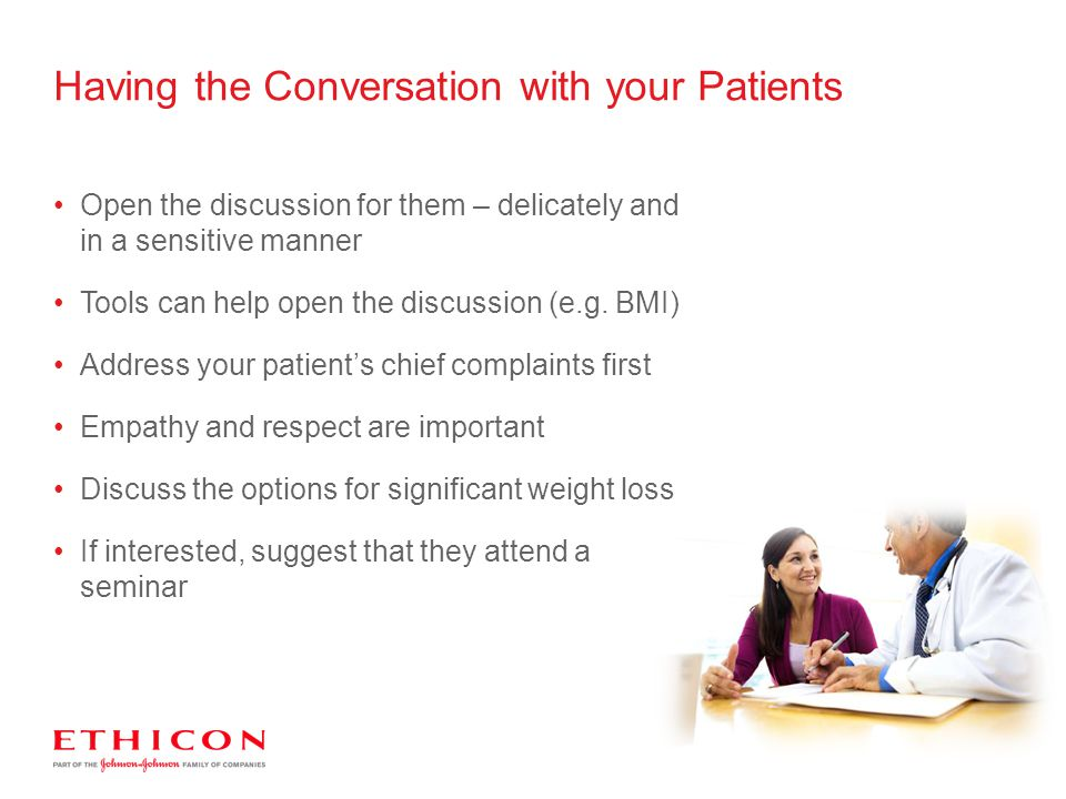 Having the Conversation with your Patients
