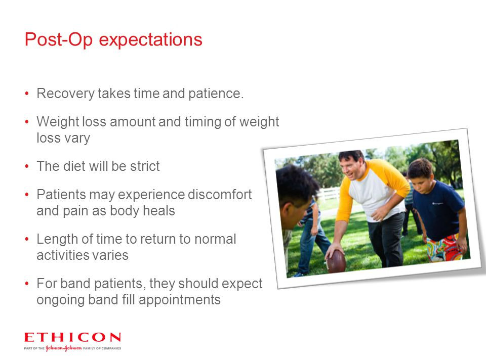 Post-Op expectations Recovery takes time and patience.