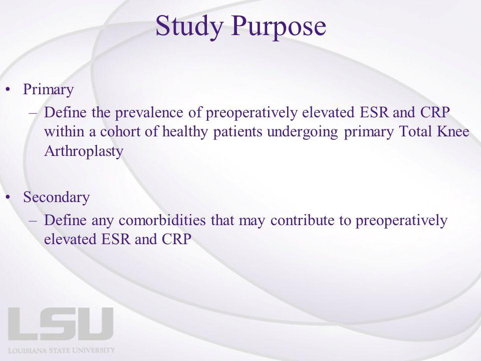 Study Purpose Primary.