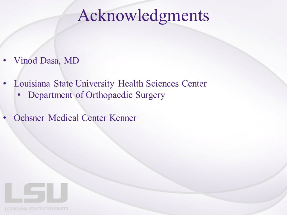 Acknowledgments Vinod Dasa, MD