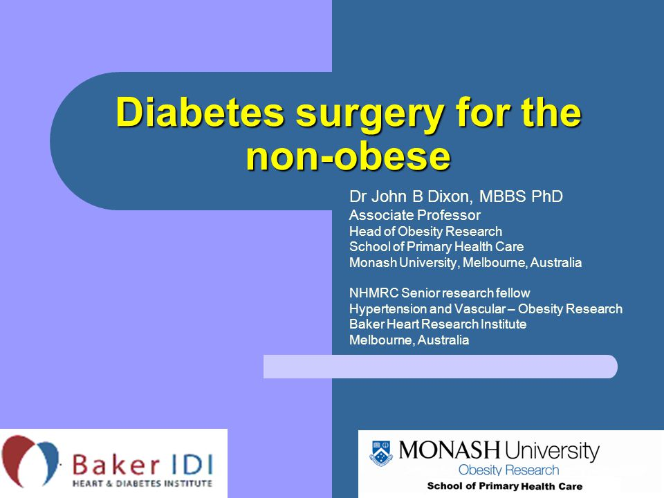 Diabetes surgery for the non-obese