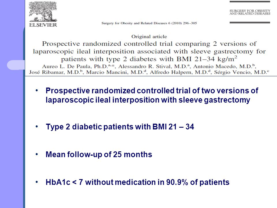 Prospective randomized controlled trial of two versions of laparoscopic ileal interposition with sleeve gastrectomy
