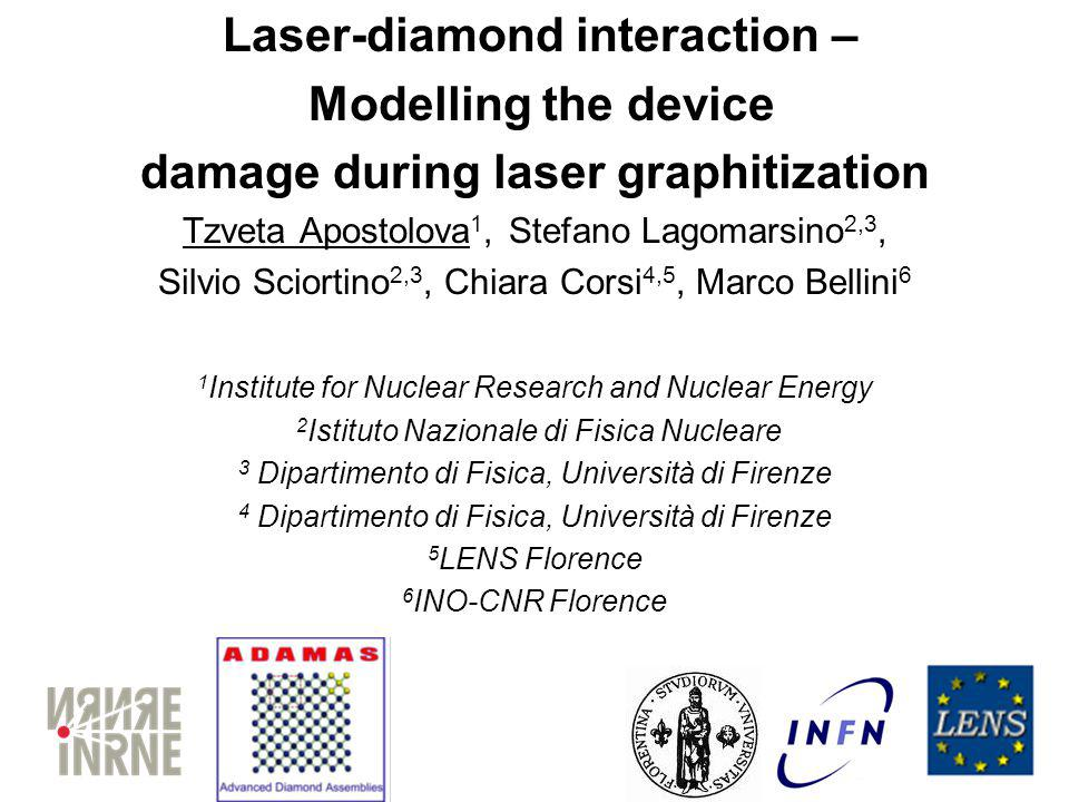 Laser-diamond interaction – damage during laser graphitization