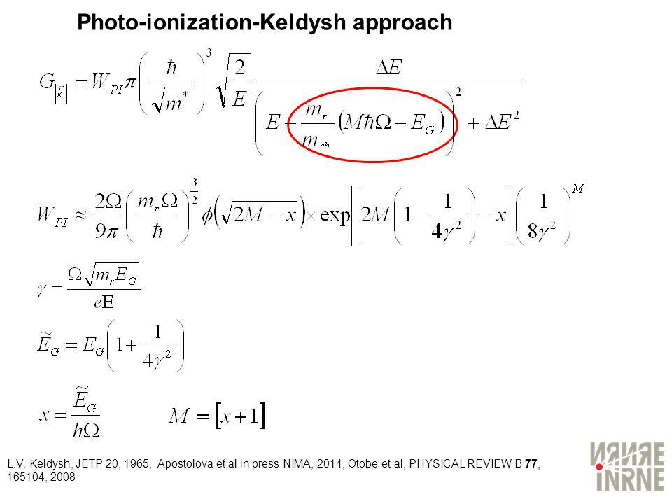 Photo-ionization-Keldysh approach