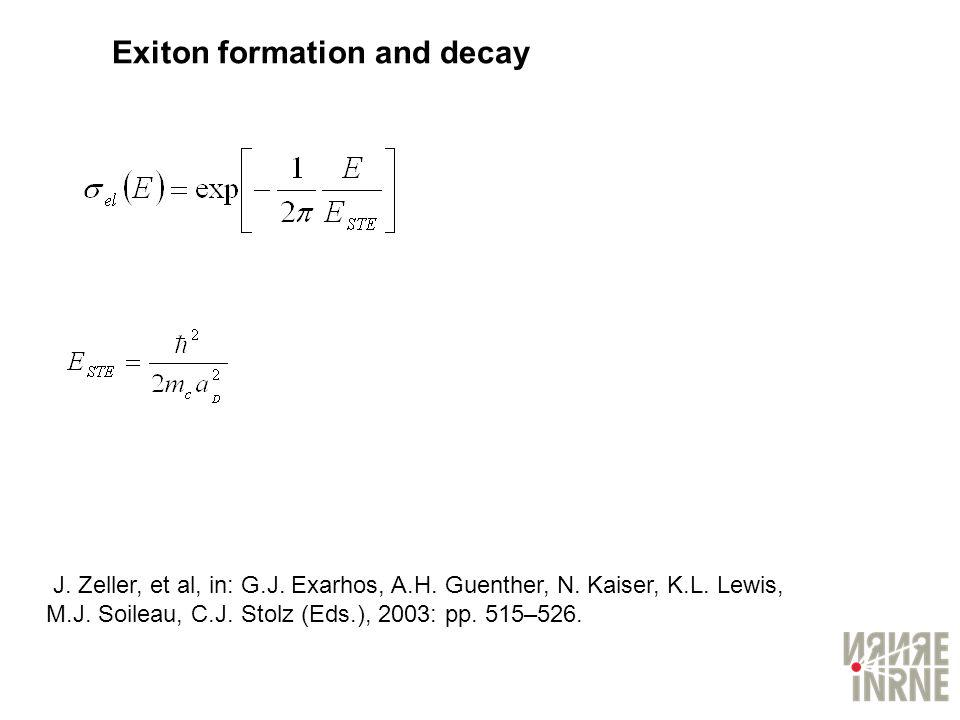 Exiton formation and decay
