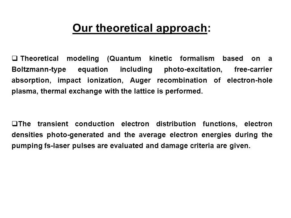 Our theoretical approach: