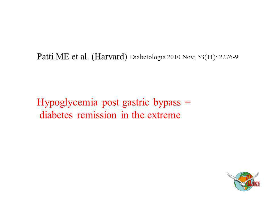 Hypoglycemia post gastric bypass = diabetes remission in the extreme