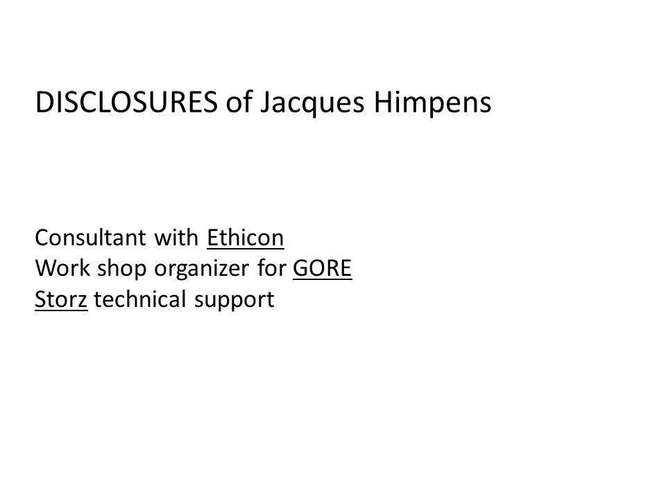 DISCLOSURES of Jacques Himpens