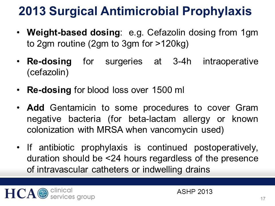 2013 Surgical Antimicrobial Prophylaxis