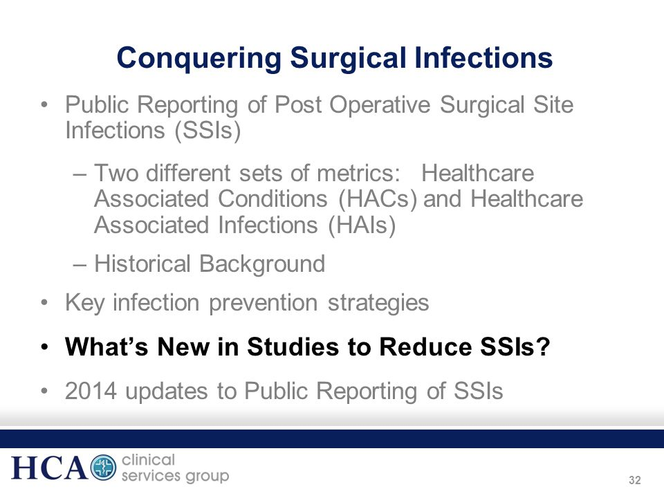 Conquering Surgical Infections