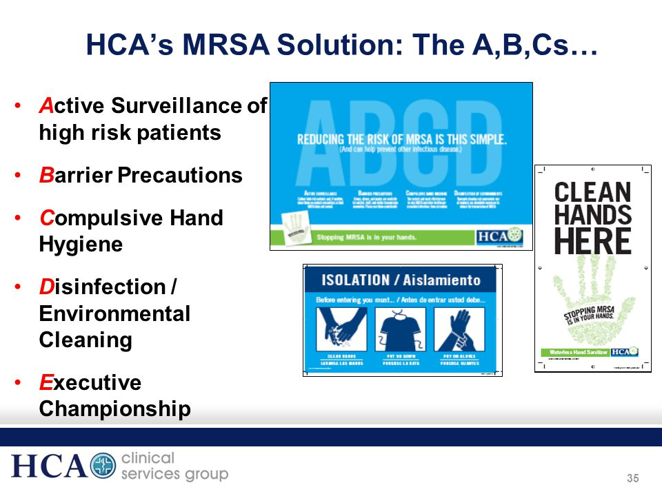 HCA's MRSA Solution: The A,B,Cs…