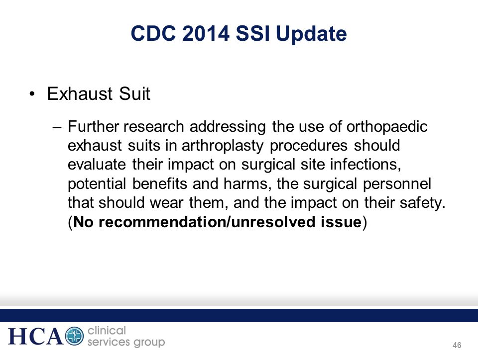 CDC 2014 SSI Update Exhaust Suit