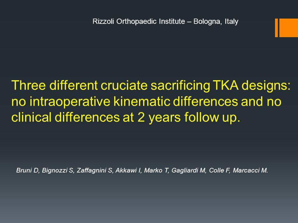 Rizzoli Orthopaedic Institute – Bologna, Italy