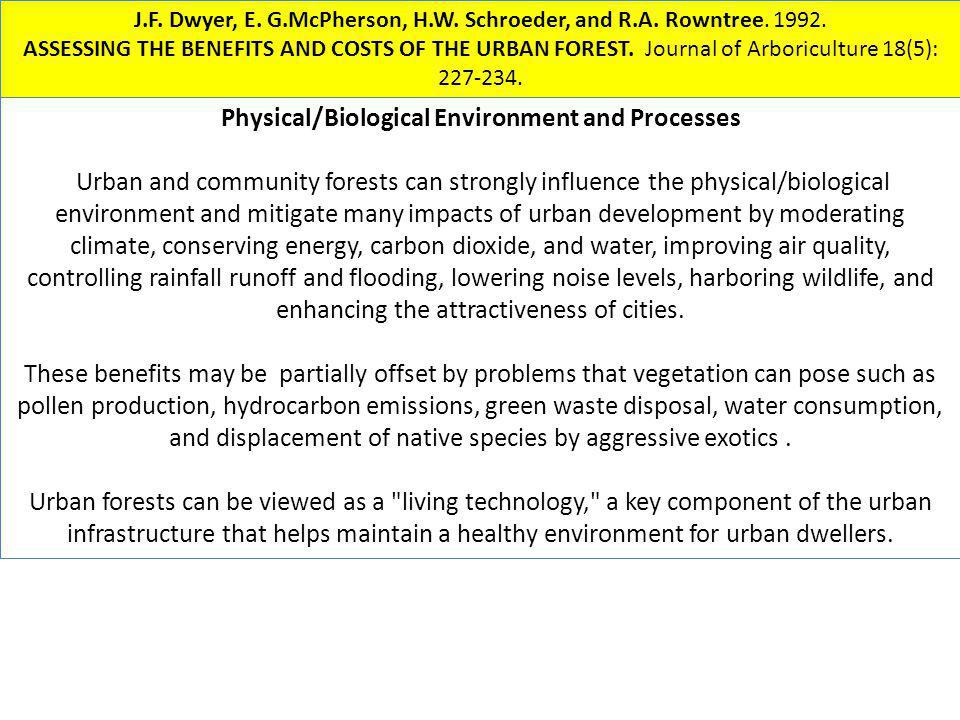 Physical/Biological Environment and Processes