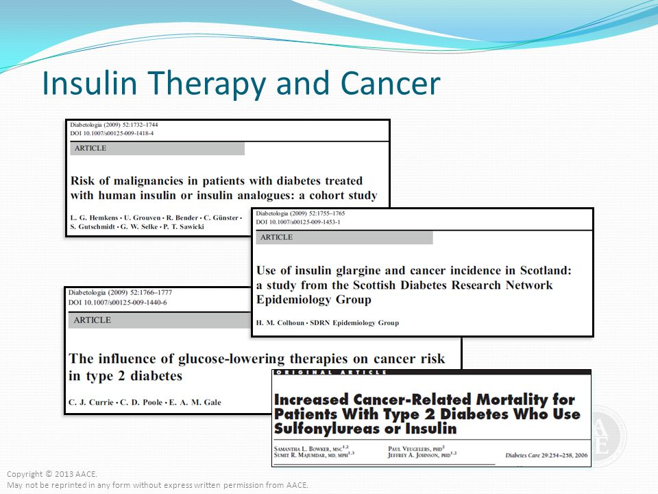 Insulin Therapy and Cancer