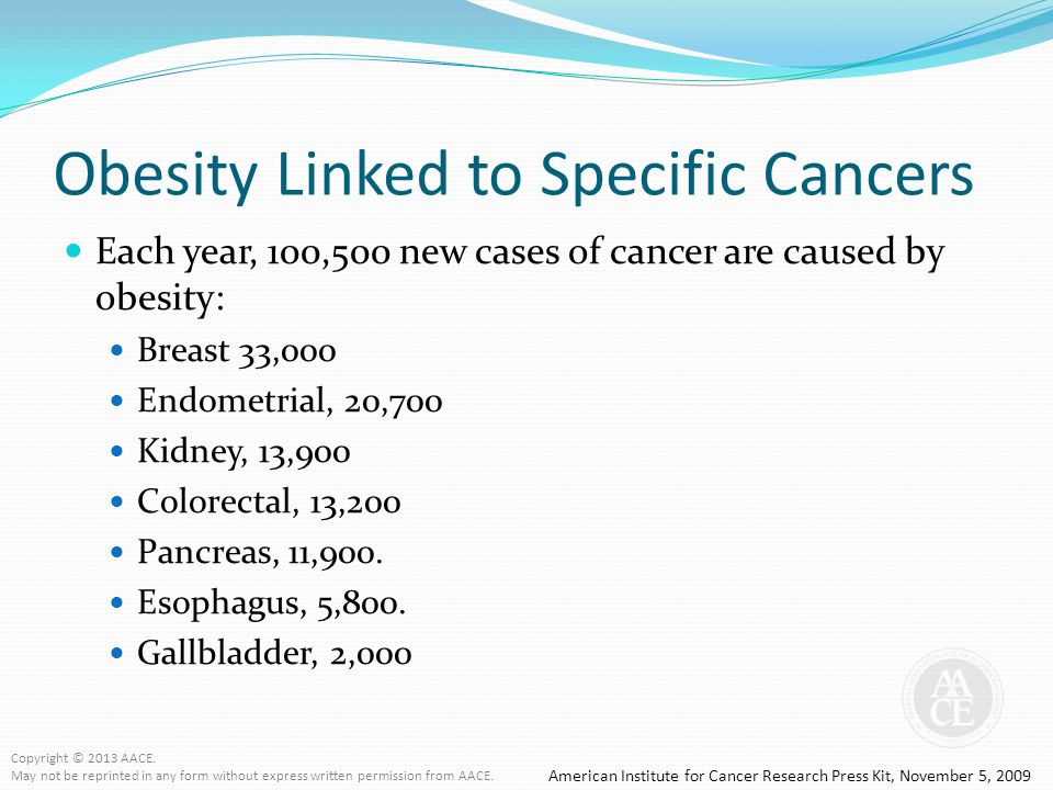 Obesity Linked to Specific Cancers