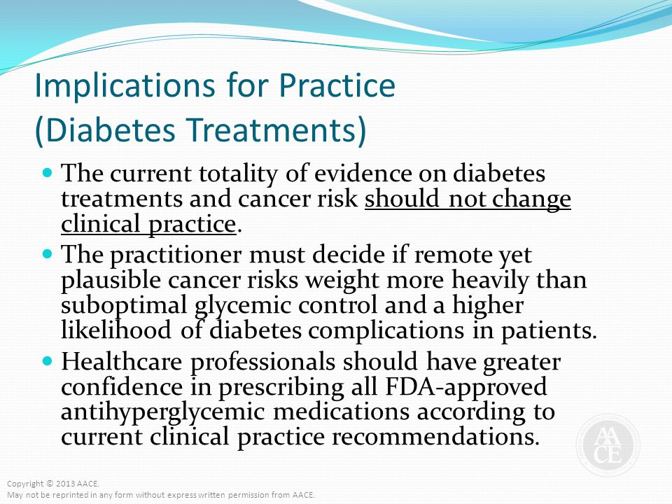 Implications for Practice (Diabetes Treatments)