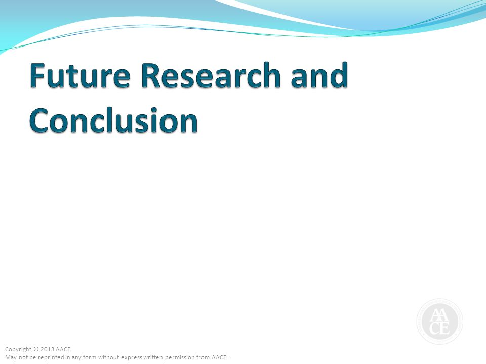 Future Research and Conclusion