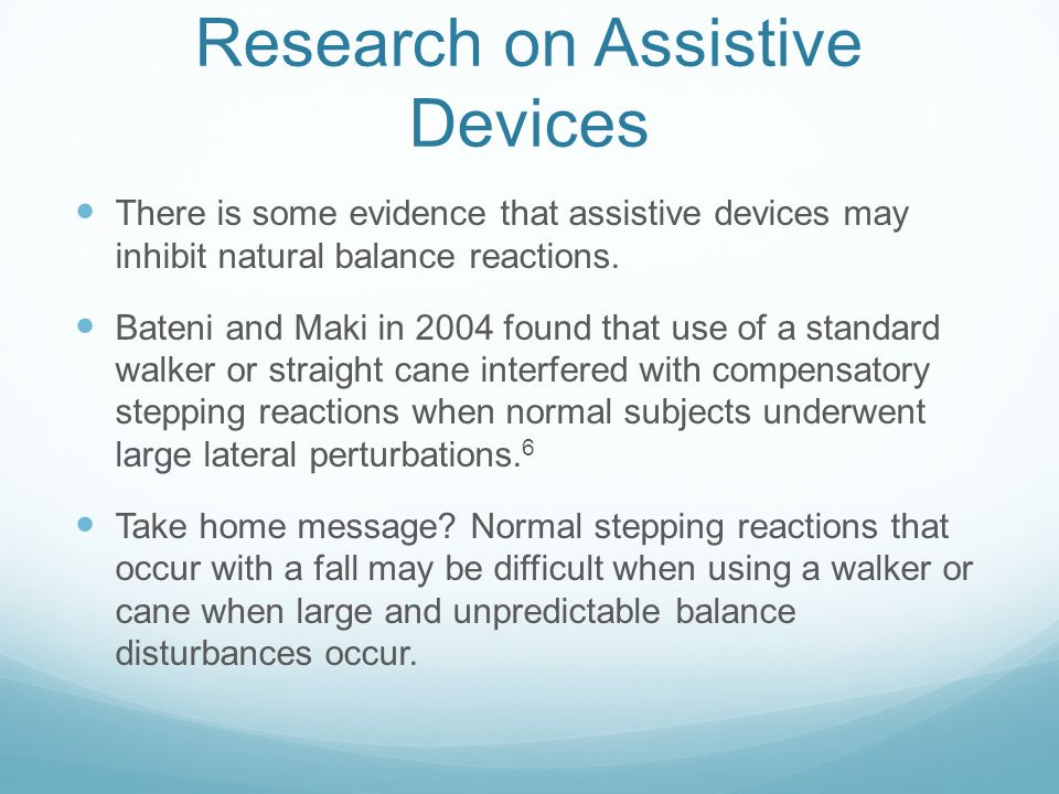 Research on Assistive Devices