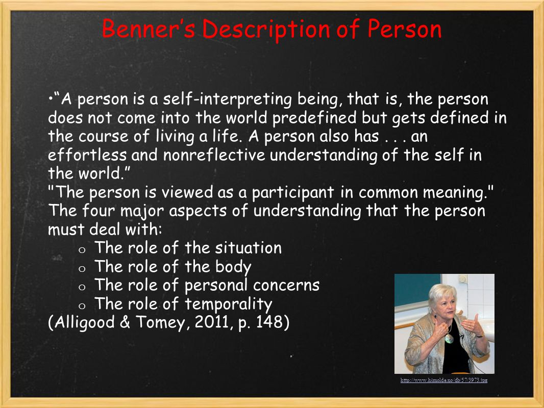 Benner's Description of Person
