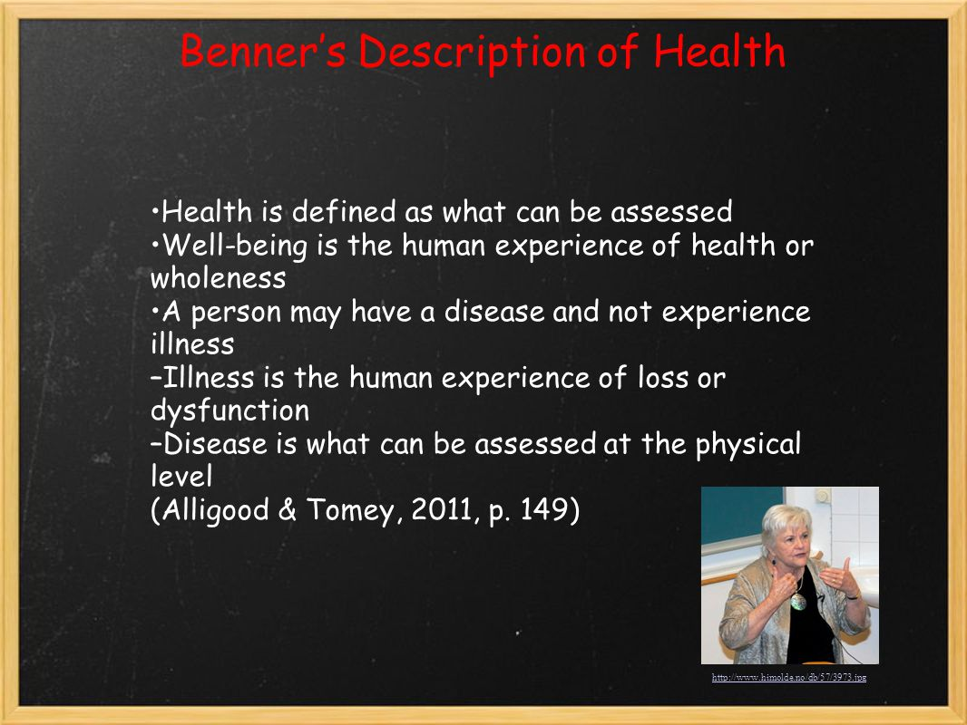 Benner's Description of Health