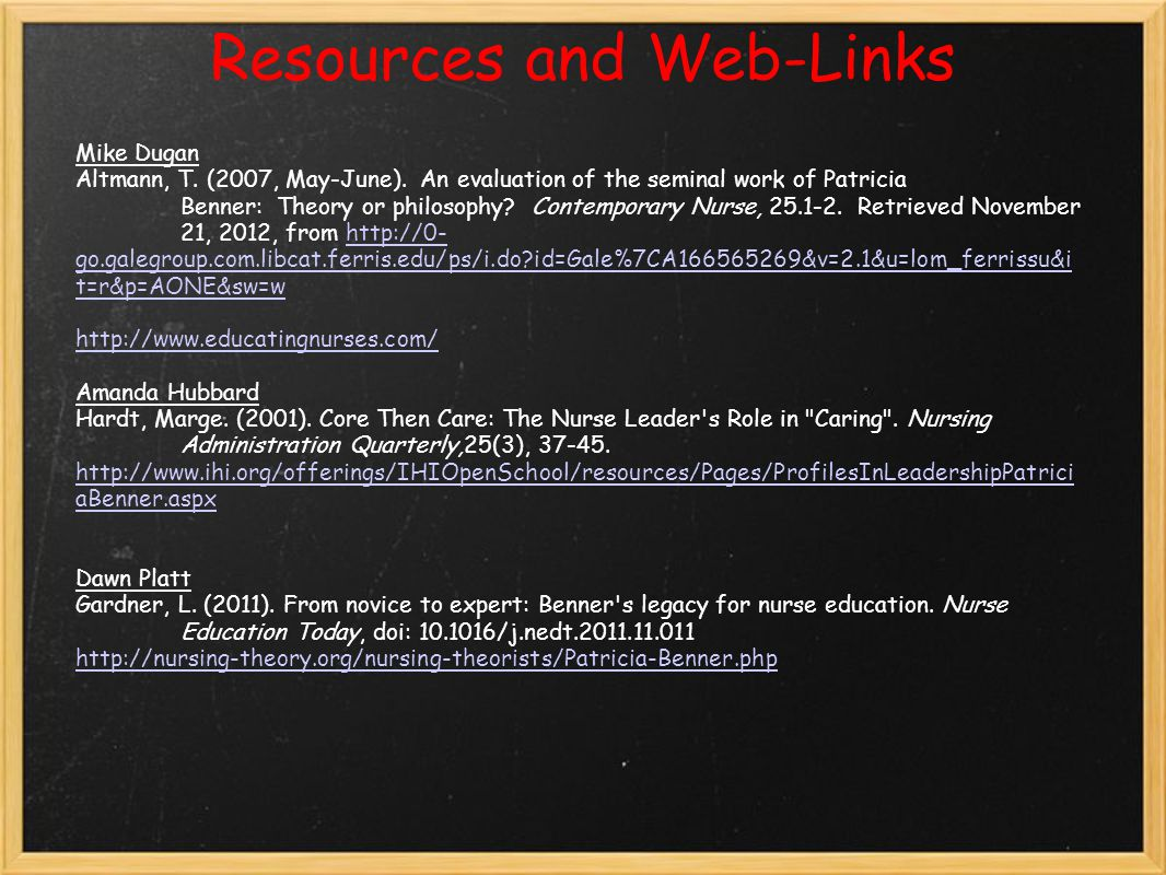 Resources and Web-Links